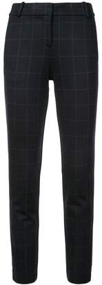 Theory checked tapered tailored trousers