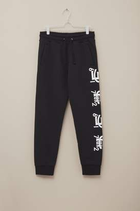 French Connection Baseball Sleeve Print Joggers