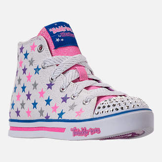 Skechers Girls' Preschool Twinkle Toes: Sparkle Glitz - Shiny Starz Light-Up Casual Shoes