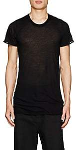 Rick Owens Men's Raw-Edge Cotton T-Shirt - Black