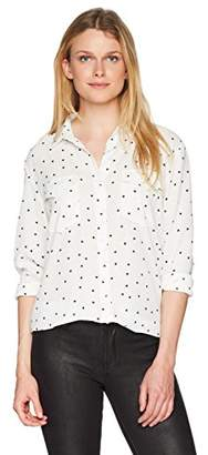 The Kooples Women's Heart Print Button Down Blouse