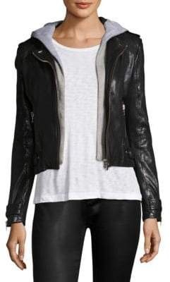 LaMarque Leather Hoodie Jacket