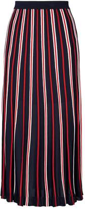 Sandro Stripe Midi Skirt