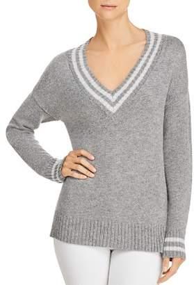Aqua Varsity V-Neck Sweater - 100% Exclusive