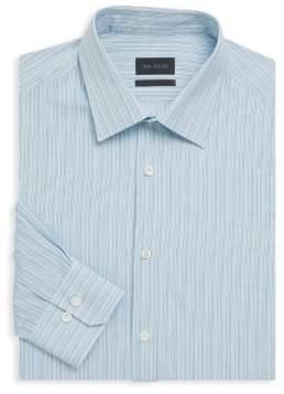 Pal Zileri Striped Button-Front Dress Shirt