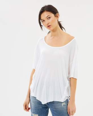 One Teaspoon Bamboo Cotton Ribbed Tee