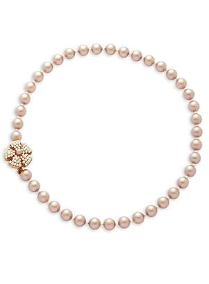 Miriam Haskell Women's Faux Pearl Flower Necklace