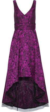 Aghal Asymmetric Bead-Embellished Jacquard Gown