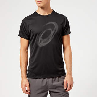 Asics Men's Silver Short Sleeve Graphic Top