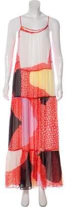 Diane von Furstenberg Silk Maxi Dress w/ Tags
