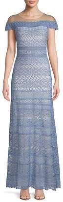 Tadashi Shoji Women's Lace Illusion Gown