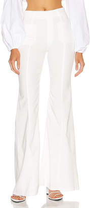 Chloé Light Denim Flare Jean in White | FWRD