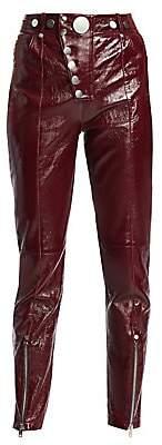 Alexander Wang Women's Leather High-Waist Multi-Button Leggings