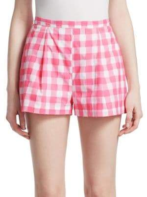 Pleated Checked Shorts