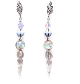 Lulu Frost Vintage Crystalline Twist Journey Earrings