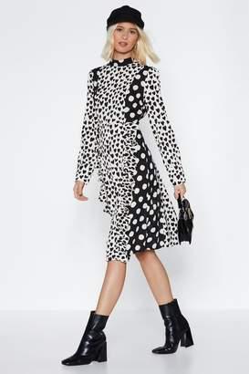 Nasty Gal Have a Heart Polka Dot Dress