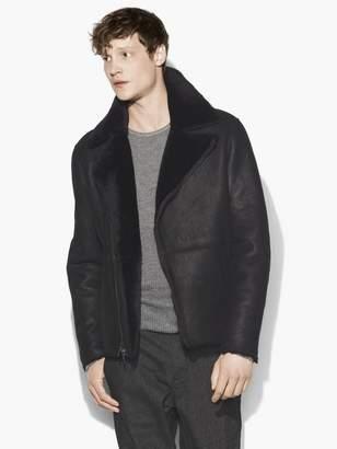John Varvatos Shearling Biker Jacket