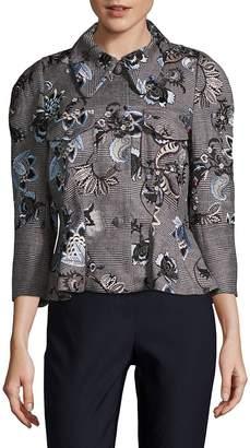 Erdem Women's Shari Embroidered Peplum Jacket
