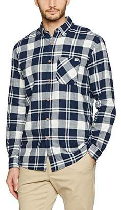 Tom Tailor Men's Sporty Checked Shirt Regular Fit Long Sleeve Casual Shirt,(Manufacturer Size: Small)