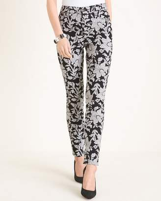 Chico's Chicos Black and White Floral Jeggings