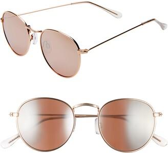BP 48mm Round Metal Sunglasses