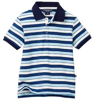Toobydoo Positano Blue Striped Polo (Baby, Little Boys, & Big Boys)