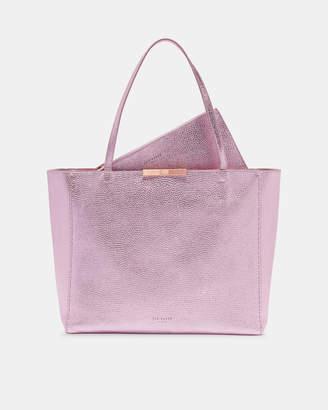 Ted Baker CRIESIA Metallic leather soft grain shopper bag