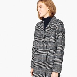 Suncoo Elena Long Checked Coat