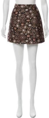 Alice + Olivia Floral Embroidered Skirt