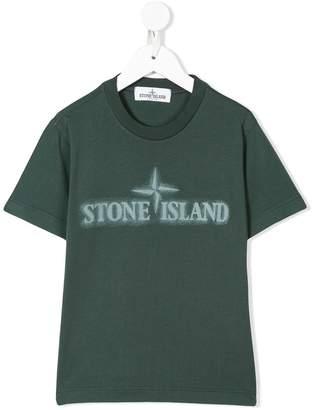 Stone Island Junior logo print T-shirt