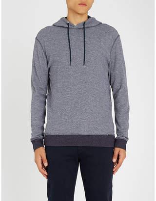 BOSS Contrast-trim textured cotton hoody