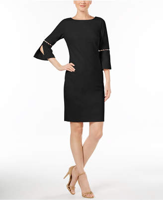 Calvin Klein Imitation-Pearl-Trim Sheath Dress, Regular & Petite