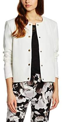 B.young Women s CAPI Short Jacket Weiß (Off White 80115) 89cfddf210ce