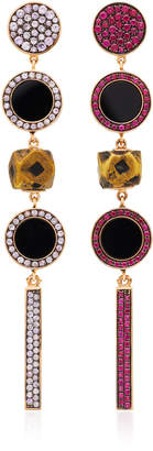 Francesca Villa One-Of-A-Kind Tom Thumb Ruby And Sapphire Earrings