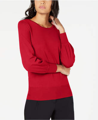 Alfani Petite Bishop-Sleeve Sweater