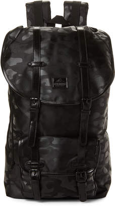 Steve Madden Black Camo Utility Laptop Backpack