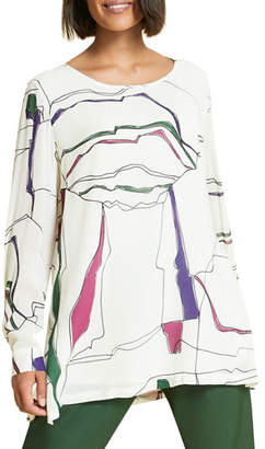 Marina Rinaldi Plus Size Fatalita Abstract-Print Blouse
