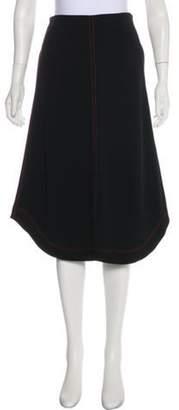 Joseph Knee-Length A-Line Skirt Black Knee-Length A-Line Skirt