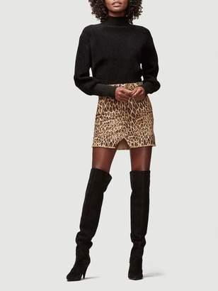 Frame Le Mini Skirt Split Front