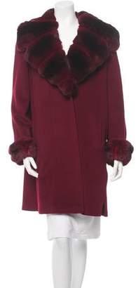 Saks Fifth Avenue Chinchilla-Trimmed Coat