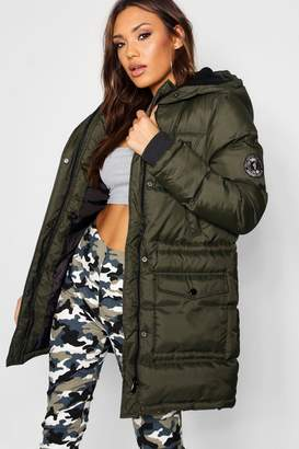 boohoo Quilted Sporty Padded Parka