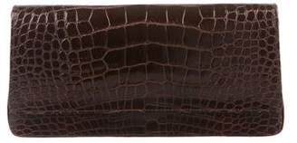 Manolo Blahnik Alligator Flap Clutch