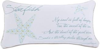 Del Ray Starfish Metallic Throw Pillow