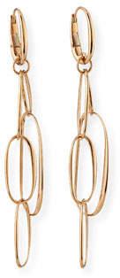 Pomellato 18k Rose Gold Oval-Link Earrings