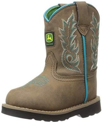 John Deere Kids' Inf Dis W/Turq Stitch PO Pull-on Boot