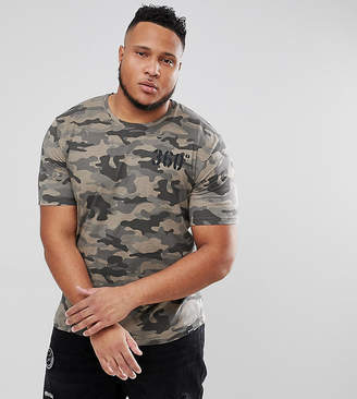 ONLY & SONS PLUS T-Shirt In Camo With Back Print