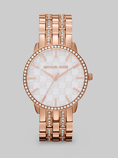 Michael Kors Lady Nini Round Rose Goldtone Bracelet Watch