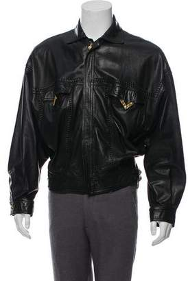 Gianni Versace Braided Leather Jacket