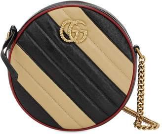 Gucci MINI GG MARMONT ROUND LEATHER BAG