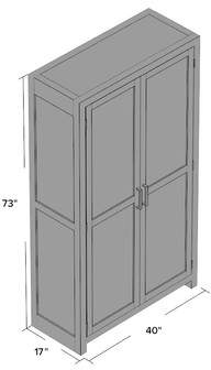 Kosas Home Norman Solid Curio Flat Back Cabinet